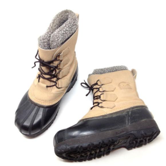 fbeebbcfa1 SOREL Shoes   Kananaskis Brown Leather Rubber Duck Boots 5   Poshmark